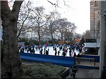 TQ2679 : Winter ice skating outside Natural History Museum by PAUL FARMER