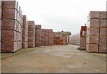 TR2955 : Stacks of bricks at Hammill brickworks by Nick Smith