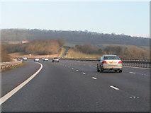 ST3857 : M5 northbound near Christon by Rob Purvis
