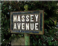 J3975 : Massey Avenue sign, Belfast by Albert Bridge