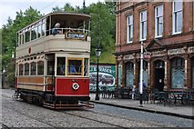 SK3455 : The Bispham Tram at the 'Red Lion' Hotel by Brian Chadwick