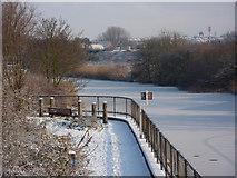 TM1444 : River east of railway bridge by Andrew Hill