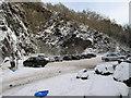 SJ6309 : Snow at the Wrekin car park by Dave Croker