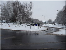 SS9612 : Tiverton : Heathcoat Way Roundabout by Lewis Clarke