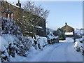 SE0614 : Follingworth, Slaithwaite on Christmas Day 2009 by Pamela Norrington