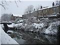 SE0511 : Huddersfield Narrow Canal, Marsden, Christmas Eve 2009 by Pamela Norrington
