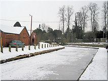 SJ2207 : Frozen Montgomery Canal by John Firth
