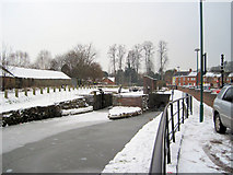 SJ2207 : Town locks on Montgomery canal by John Firth