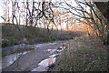 SX8476 : Bend of the River Teign northwest of Southacre quarry by Robin Stott