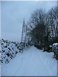 SS9412 : Mid Devon : Bakers Hill & TV Mast by Lewis Clarke