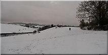 SS9412 : Tiverton : Bakers Hill, Snowy Field & Hillside by Lewis Clarke