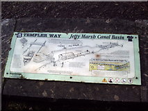 SX8672 : Jetty Marsh Basin sign on the Stover Canal by Anthony Volante