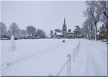 SP3509 : Church Green in the snow by Miranda Hodgson