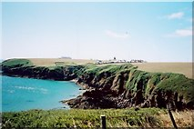 SM8003 : South across Mill Bay to the lighthouse on St Ann's Head by Richard Law