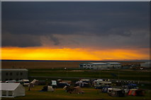 SY6874 : Camping ground near Chesil Beach by Ceri Thomas