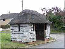 TM4493 : Thatched bus shelter, Aldeby by John Courtney