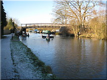 SU4667 : Kennet and Avon Canal: The New Monkey Bridge, Newbury by Nigel Cox