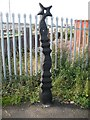 NS4138 : Milepost, National Cycle Network route 73 by Richard Webb