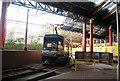 SJ8498 : Metrolink tram leaving Victoria Station by N Chadwick