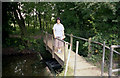 SU4620 : Withymead footbridge, Itchen Navigation by Dr Neil Clifton
