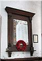 TL7698 : All Saints church - war memorial by Evelyn Simak