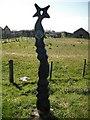 NS3236 : Millennium Milepost, Gailes by Richard Webb