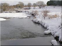 SD7909 : River Irwell, Weir at Warth Mills by David Dixon