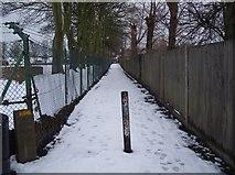 TQ7668 : Footpath to Sally Port Gardens by David Anstiss
