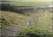NZ3354 : Footpath down from Penshaw Hill near Sunderland by peter robinson