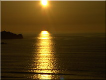 SW8162 : Late May sunset over Newquay Bay by John Digby