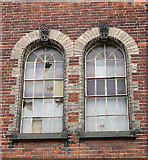 TG2407 : Trowse pumping station - window detail by Evelyn Simak