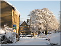 NY8355 : Shield Street in the snow (3) by Mike Quinn