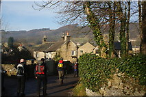 SK2276 : Entering Eyam from the south by Bill Boaden