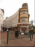 SZ0891 : Bournemouth: wedge-shaped shop between Old Christchurch Road and Gervis Place by Chris Downer