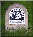 SP3228 : Cotswolds: AONB Sign by john shortland