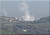 ST0642 : Steam from the paper mill at Watchet by N Chadwick