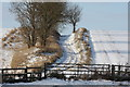 TL3553 : Public footpath/farm track to the west of Manor Farm, Great Eversden by Spike Jackson