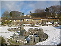 NY7744 : Nenthead's model village in snowscape by Roger Morris