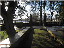 SJ3454 : The west gate at All Saints, Gresford by John S Turner