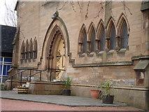 NS5564 : Entrance, Ibrox Parish Church by David McMumm