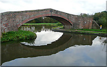 SJ9922 : Bridge at Great Haywood Junction, Staffordshire by Roger  Kidd