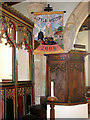 TG1506 : All Saints church - pulpit made from C15 panels by Evelyn Simak