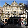 NZ2464 : Half Moon Inn and Chambers, Bigg Market by Andrew Curtis