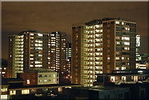 TQ3282 : Night and day: roofscape in London EC1 (2) by Andy F