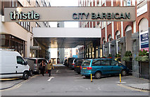 TQ3282 : Entrance to Thistle Hotel, Lever Street, London EC1 by Andy F