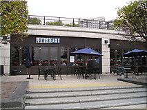 TQ3680 : Lower East Liquor Bar and Bistro, LONDON E14 by canalandriversidepubs co uk