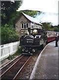 SH6441 : Earl Of Merioneth in Tan-Y-Bwlch station by David P Howard