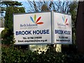 SJ7419 : Brook House sign, Chetwynd End by P L Chadwick