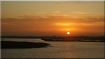 SZ3394 : Sunset Over Crooked Lake, Lymington by Peter Trimming