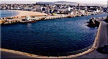 SC2484 : Peel - Bay, Beach, Harbour, River Neb, West Quay by Joseph Mischyshyn